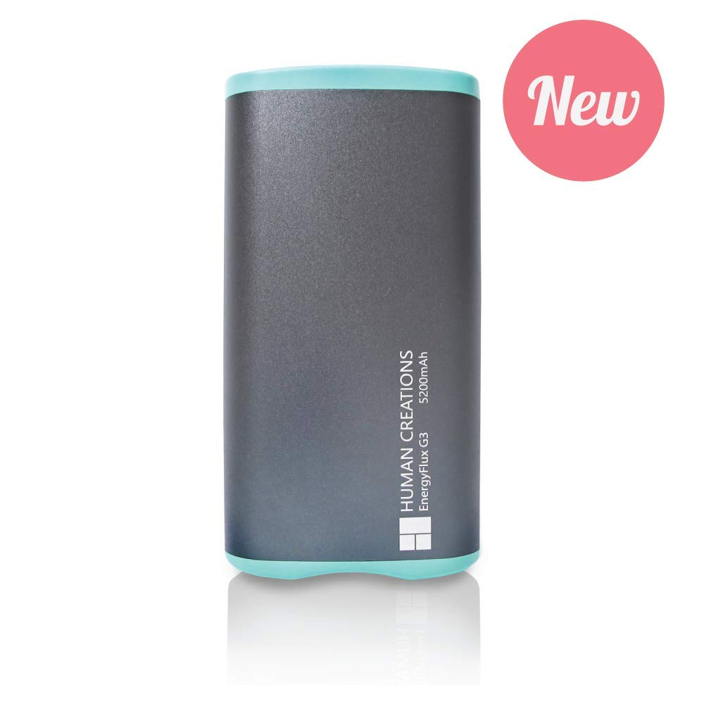 Human Creations EnergyFlux G3 Rechargeable Hand Warmer - Warm Up with Next Generation Reliability and Usability (Turquoise, 5200mAh) by Human Creations