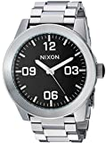 Nixon Men's 'Corporal SS' Quartz Stainless Steel Casual Watch, Color Black (Model: A346000)