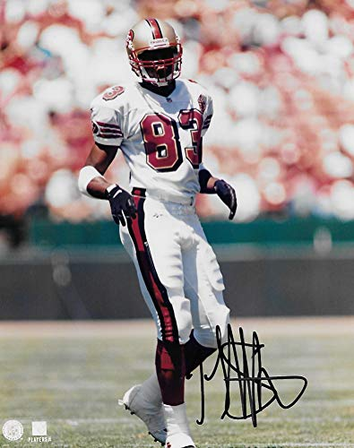 JJ Stokes San Francisco 49ers signed autographed, 8x10 Photo, COA will be included' (Rice Jerry 8x10 Photograph Autographed)