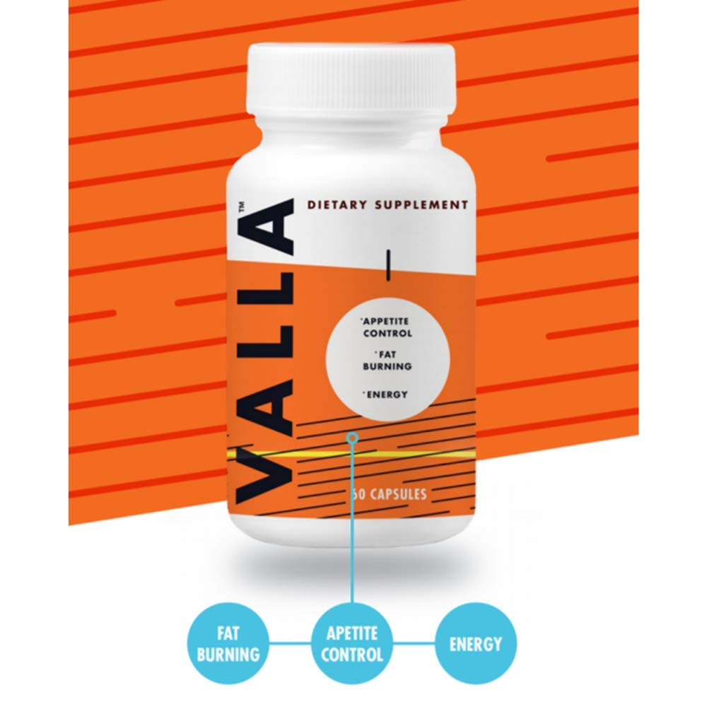 Valla Fat Burner, Appetite Conrol, and Energy Boost Dietary Supplement - 60 Capsules