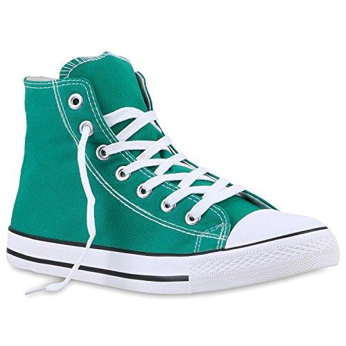 Flandell Stiefelparadies High Sneaker Damen Grün Übergrößen Herren Unisex xYrCqwYv