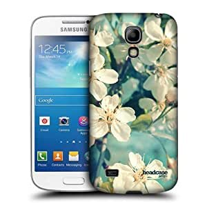 AIYAYA Samsung Case Designs White Spring Cherry Blossoms Flowers Protective Snap-on Hard Back Case Cover for Samsung Galaxy S4 mini I9190 Duos I9192