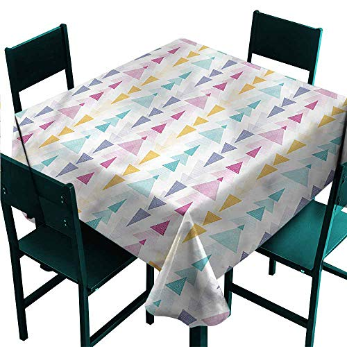 - DONEECKL Square Tablecloth Abstract Geometric Colorful Arrows Soft and Smooth Surface W70 xL70