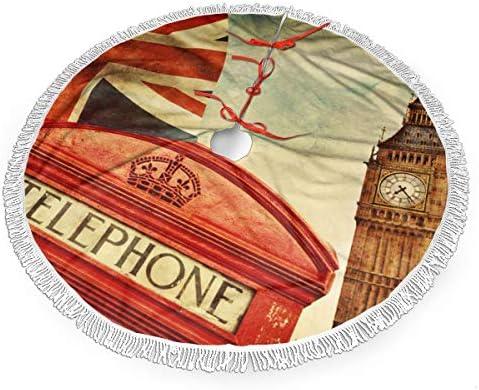 Ye Hua Cabina telefónica roja Big Ben y la Bandera Nacional Mini ...
