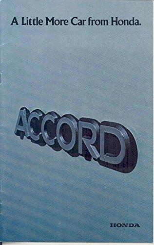 (1976 Honda Accord Brochure)