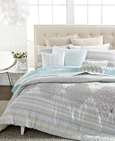 Steve Madden Laurel 2 Piece Twin Comforter Set Aqua / Multi ()
