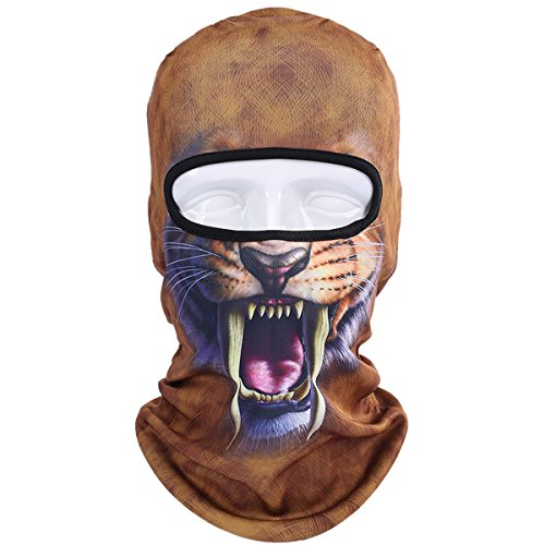WTACTFUL Animal Balaclava Face Mask Breathable Wind Dust UV Helmet Liner Protection Skiing Snowboard Snowmobile Cycling Motorcycle Driving Riding Biking Fishing Hunting Music Festivals Halloween BNB03]()
