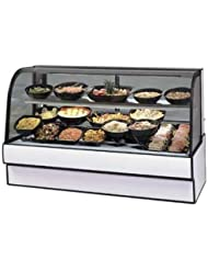 Federal CGR7748CD Deli Case, Refrigerated, Curved Glass, Single Duty, Double She