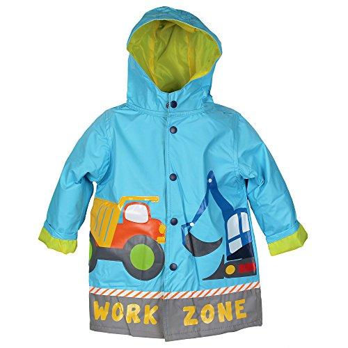 Wippette Infant-Boys Fully Lined Waterproof Blue Durable Rain Coat 24 Mths