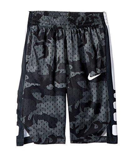 NIKE Boy's Dry Elite Camo Print Basketball Shorts (Wolf Grey/Black, X-Large)