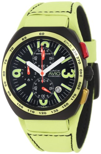 Montres De Luxe Men's BK5503 Black Avio Summer Quartz Chronograph Black Dial Watch by Montres De Luxe