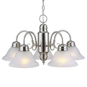 Design House 511535 Millbridge 5 Light Chandelier, Satin Nickel