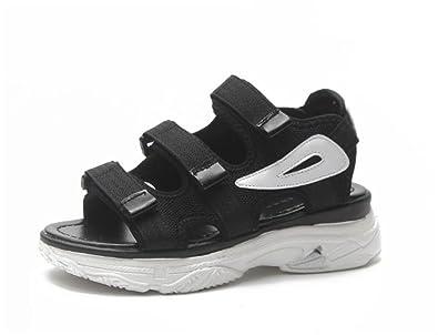 c94cbc47d4b3 PRETTYHOMEL Women s Single Band Espadrilles Platform Sandal with Ankle  Strap Wedge Sandal Shoes (Black 35