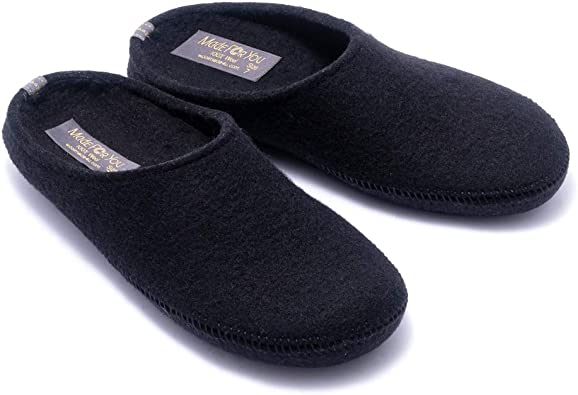 Wool Slippers with Arch Support Insoles