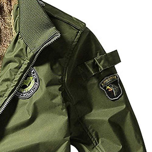 Vent Vert Occlusion Army Pardessus Duveteuse Poche Hommes Étoffe Xxl Hiver Veste Outwear Casual Sport Blouse Autumne Blouson Pullover Sweatshirt Outercoat Manteau Avec H7q80Rq