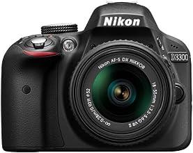 "Nikon D3300 - Cámara réflex digital de 24.2 Mp (Pantalla 3"", estabilizador óptico, vídeo Full HD), negro - kit cuerpo con objetivo Nikkor AF-S DX 18-55 mm f:3.5 VR II"