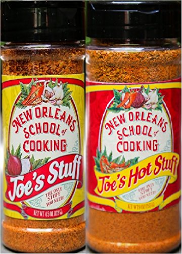 Joe's Stuff Seasoning Bundle - 1 each of Joe's Original Stuff and Joe's Hot Stuff (4.5 Ounces each) by New Orleans Cooking