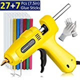 "Hot Glue Gun, Natrosky Full-Size 60W High-Temperature Melt Glue Gun Kit with 34pcs Glue Sticks (7/16"" x 7.5"") and A Pair of Gloves, Flexible Trigger for Crafts, DIY, Home Repair and Christmas Decorati"