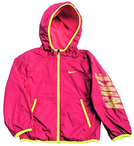 (Nike Girls Fleece Lined Reversible Jacket (Vivid Pink/Yellow) (6X))