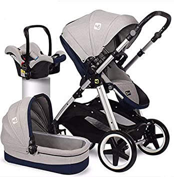 Amazon Com Baby Stroller Standard 3 In 1 Carrycot Car Seat And