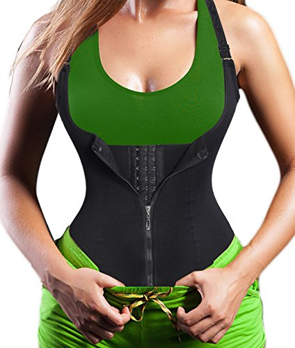 waist trainer corset lingerie costume body shaper shapewear tank long top sweat suit for women tummy workout weight loss abdomen beer belly binder belly hourglass fat burner ultra-thin (2XL, (Sports Trainer Costume)