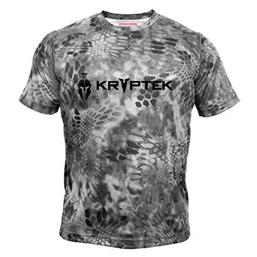 Kryptek Hyperion SS Crew with Logo - Short Sleeve Camo Hunting & Fishing Shirt (K-Ore Collection), Raid, 2XL