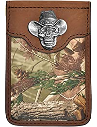 Custom Badger Cowboy Skull Realtree AP Camo Money Clip