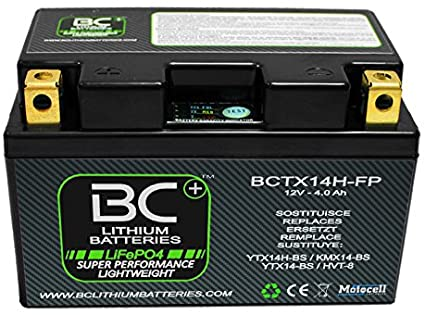 BC Lithium Batteries BCTX14H-FP Batería Moto de Litio LiFePO4