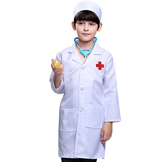 PHYNEDI Disfraz Infantil Doctor Niños Disfraz Médico Niñas ...