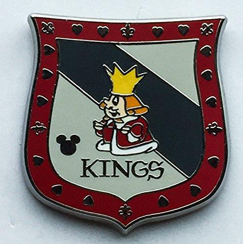 Disney Pin 119774 DLR - 2017 Hidden Mickey - Signs - King of Hearts Restroom Pin Alice in Wonderland