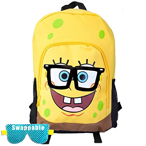 - Spongebob Square Pants - Big Face Backpack With Removable Glasses