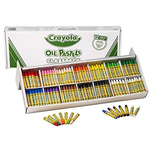Crayola Oil Pastels Classpack, 12 Brilliant Opaque Colors, School Supplies, 336Count
