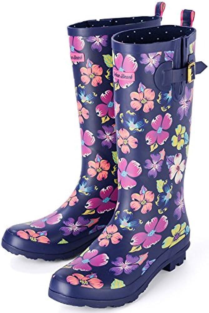 Ladies Waterproof Carnaby Floral Wellington Boots Sizes Last Pair