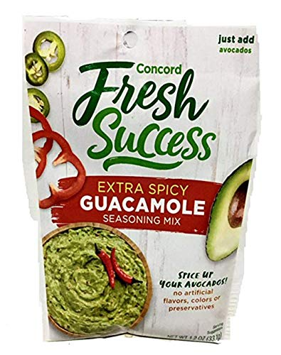 Concord Farms Extra Spicy Guacamole Mix, 1.2-ounce Pouches (VALUE Pack of 18 Pouches)]()