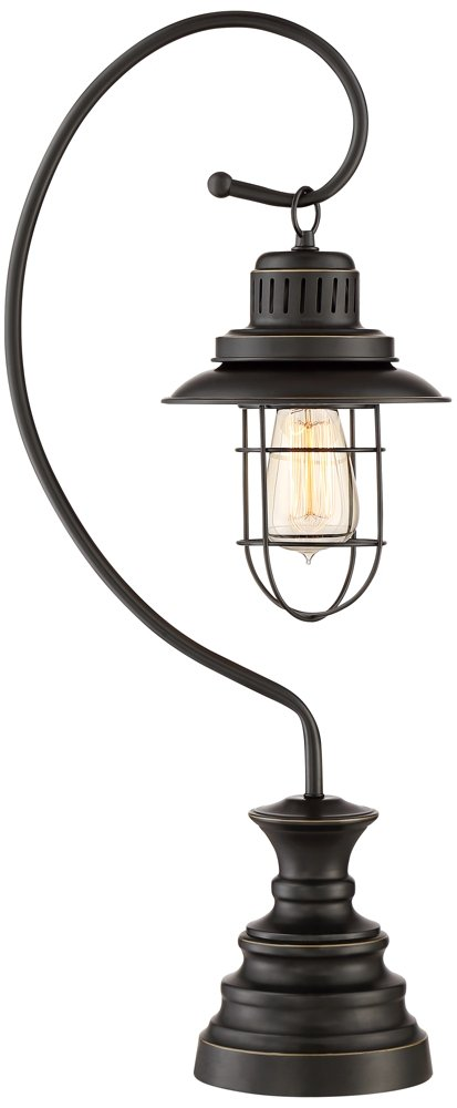 Ulysses Oil-Rubbed Bronze Industrial Lantern Desk Lamp by Franklin Iron Works