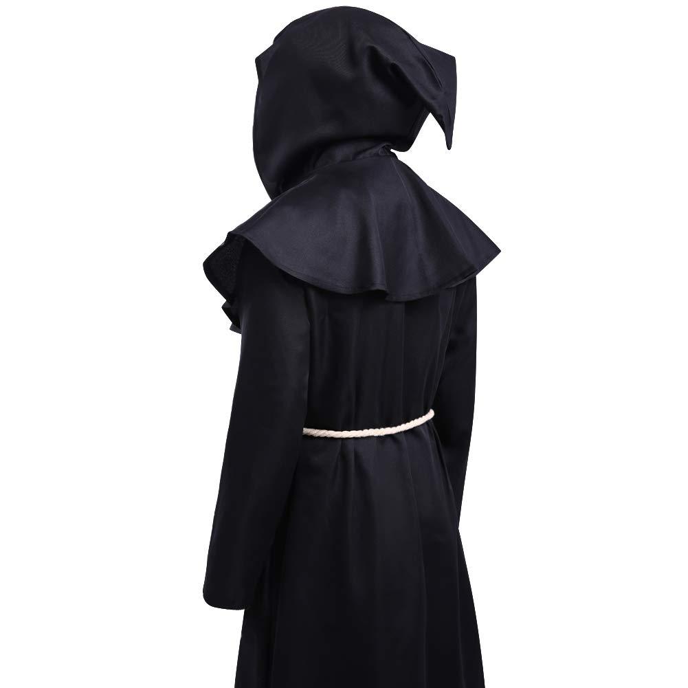 Amazon.com: LETSQK. Disfraz de bata/túnica de monje ...