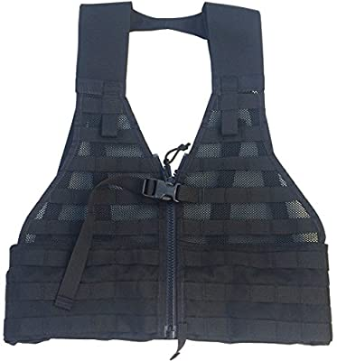 Fire Force MOLLE II Fighting Load Carrier Load Bearing Vest (FLC) Made in USA (Black)