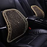 RUIX Summer Car Auto Seat Office Chair Lumbar Support Cushion Pad Wood Beads Massage Lumbar Pillow,F