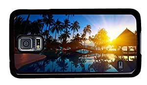 Hipster Samsung Galaxy S5 Case fun pool sunset resort PC Black for Samsung S5