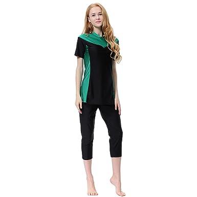 ac0a30b20e P Prettyia Muslim Ladies Swimsuit Modest Swimwear Islamic Swimming Tops  Pants Costume Swim Maillot Burkini  Amazon.co.uk  Clothing