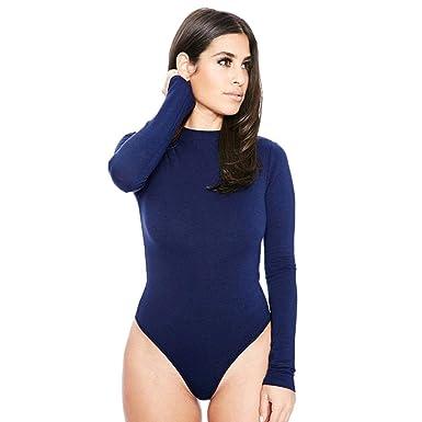 DressLksnf Jumpsuits Donna Monopezzi e Tutine Donne Body Manica Lunga Sexy  Bodysuit Maglia Autunno Tops Casual Playsuit Eleganti Pantaloni Elegante  Pigiama ... ef0837fd267