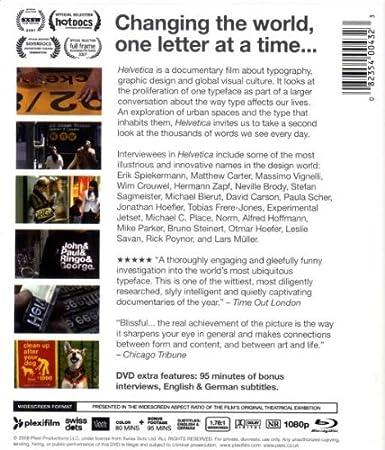 Amazon.com: Helvetica [Blu-ray]: Gary Hustwit: Movies & TV