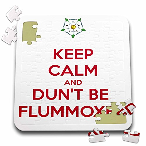 Taiche - Tee Shirt - Keep Calm And Carry On - Keep Calm and Dunt Be Flummoxed - 10x10 Inch Puzzle (Baffled Tee)