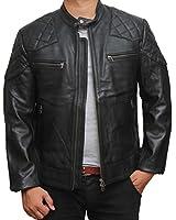 David Beckham Leather Biker Jacket