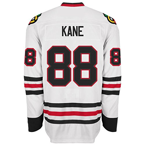 Mens Chicago Blackhawks #88 Patrick Kane White Premier Player Hockey Jersey L
