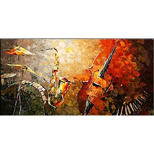 Santin Art Modern Abstract Oil Painting Wall Decorations On Canvas Home Decor CitySpace Color City