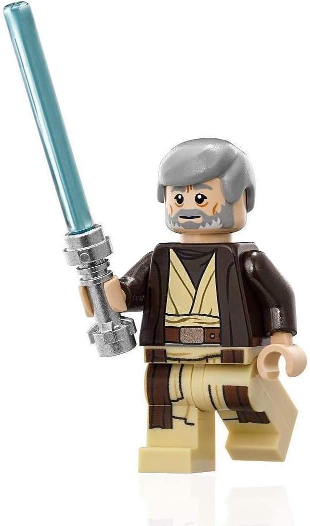 LEGO Star Wars Minifigure - Obi Wan Kenobi (with Hooded Coat and Jedi Lightsaber) 75052