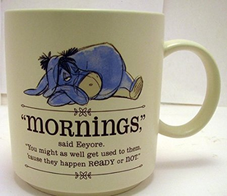 Eeyore ''Mornings'' Coffee Mug from Winnie the Pooh