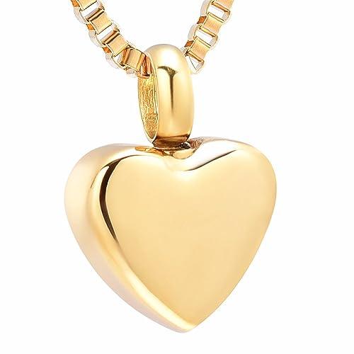Amazon.com: Collar de cremación de corazón de acero ...