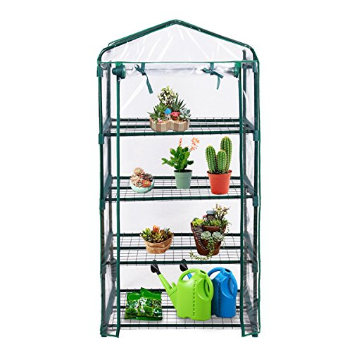 Super buy 4 Shelves Greenhouse Portable Mini Outdoor Green House Brand New Garden by Super buy